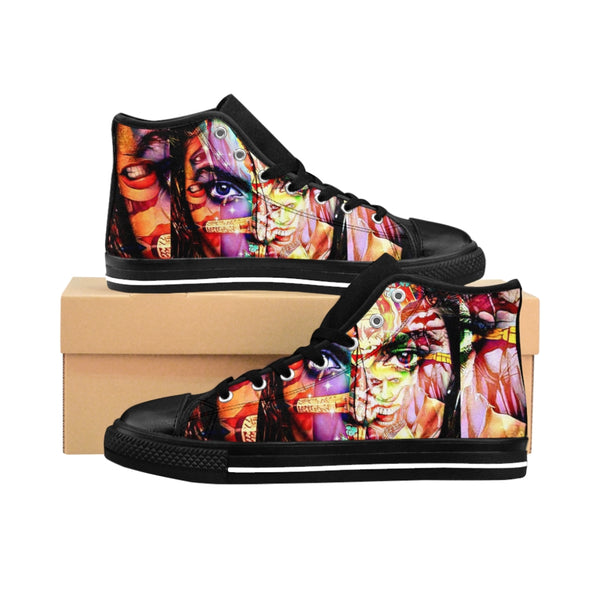 Men's High-top Sneakers Beauty Witch-All Over Print, Men's Clothing, Shoes-Etsy-TrumpVaderStore-TheWorlddiscountstore