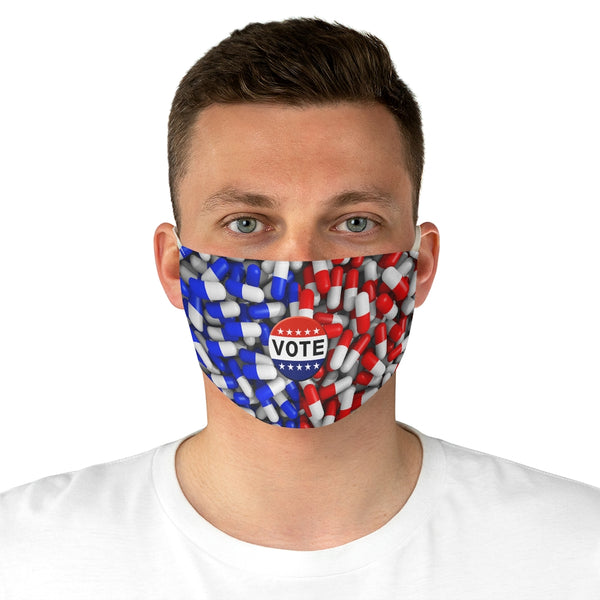 Vote2020 Election Blue Pill Red Pill Fabric Face Mask-Accessories, face mask, mask, Other, Unisex-Etsy-TrumpVaderStore-TheWorlddiscountstore