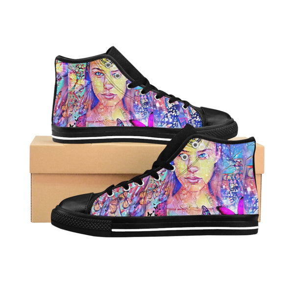 Mens High-top Sneakers Zen Girl2-All Over Print, Men's Clothing, Shoes-Etsy-TrumpVaderStore-TheWorlddiscountstore