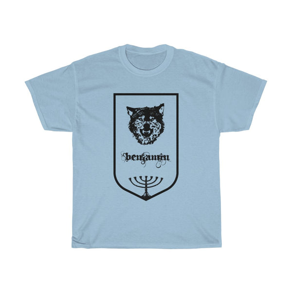 "Tribes of Israel ""Benjamin""-Crew neck, DTG, Men's Clothing, Regular fit, T-shirts, Top Spring Products, Unisex, Women's Clothing-Etsy-TrumpVaderStore-TheWorlddiscountstore"