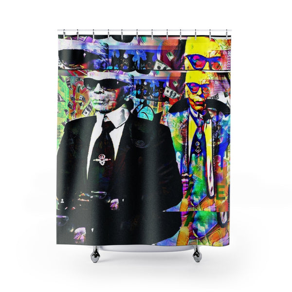 Shower Curtain Karl Lagerfeld Inspired by C h a n e l-All Over Print, Bathroom, Home & Living-Etsy-TrumpVaderStore-TheWorlddiscountstore