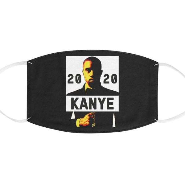 Kanye West for President 2020 Black Fabric Face Mask-Accessories, face mask, mask, Other, Unisex-Etsy-TrumpVaderStore-TheWorlddiscountstore