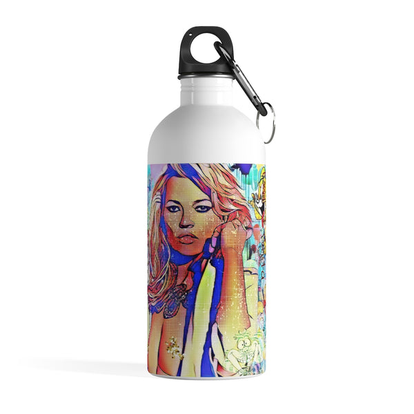 Kate Moss Super Model Stainless Steel Water Bottle