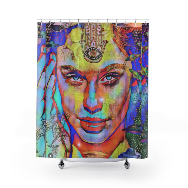 Shower Curtain Zen Girl 3-All Over Print, Bathroom, Home & Living-Etsy-TrumpVaderStore-TheWorlddiscountstore