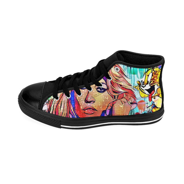 Mens High-top Sneakers Kate Moss Face-All Over Print, Men's Clothing, Shoes-Etsy-TrumpVaderStore-TheWorlddiscountstore