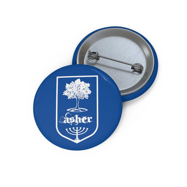 Asher Tribes of Israel Jewish Custom Pin Buttons