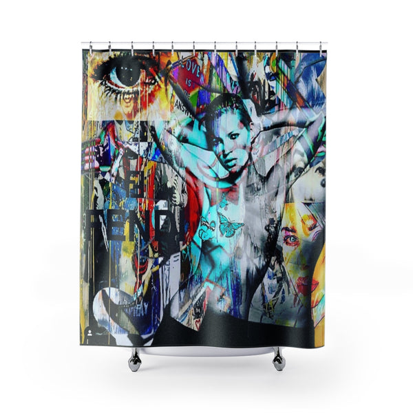Shower Curtain Beyonce Kate Moss Fendi-All Over Print, Bathroom, Home & Living-Etsy-TrumpVaderStore-TheWorlddiscountstore