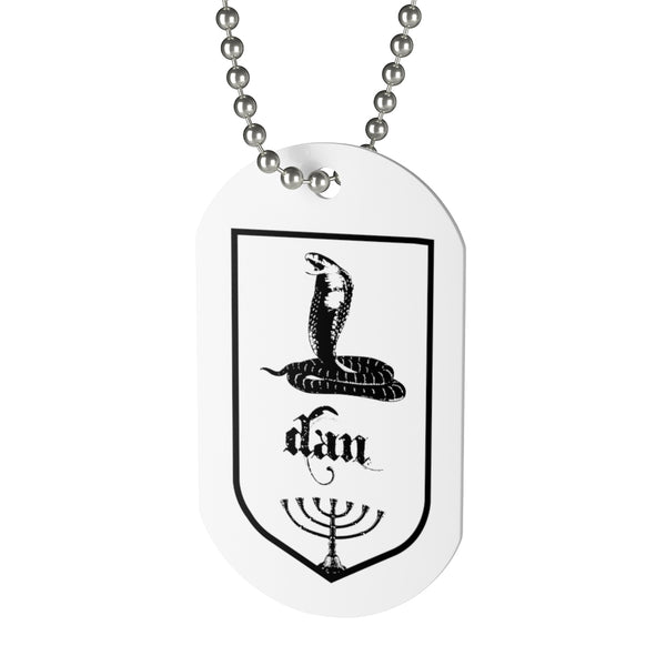 Dan, Tribes of Israel, Beaded Aluminum Tag with Chain-Accessories, Home & Living, Jewelry, Pets, Silver-Etsy-TrumpVaderStore-TheWorlddiscountstore