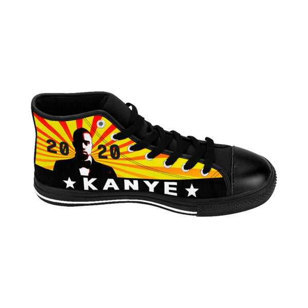 Kanye West For President 2020 Yellow Men's High-top Sneakers-All Over Print, Men's Clothing, Shoes-Etsy-TrumpVaderStore-TheWorlddiscountstore