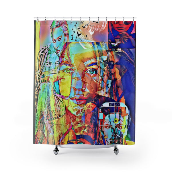 Shower Curtain Blonde Bombshell-All Over Print, Bathroom, Home & Living-Etsy-TrumpVaderStore-TheWorlddiscountstore