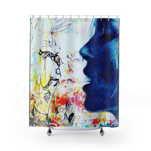 Shower Curtain Blue Face-All Over Print, Bathroom, Home & Living-Etsy-TrumpVaderStore-TheWorlddiscountstore