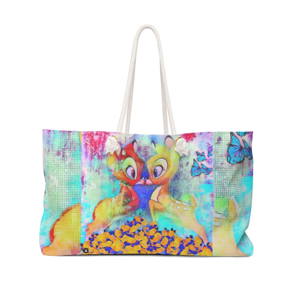 Bambi Kiss Cute Art Weekender Bag
