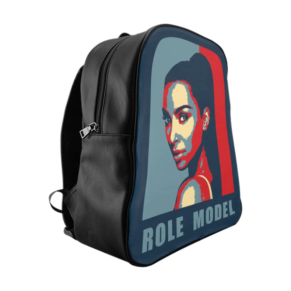 School Backpack Kim Kardashian Role Model-Accessories, All Over Print, Backpacks, Bags-Etsy-TrumpVaderStore-TheWorlddiscountstore
