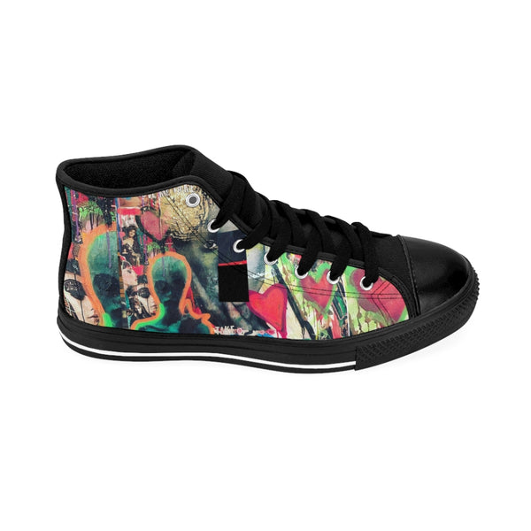 Men's High-top Sneakers Area51 Alien-All Over Print, Men's Clothing, Shoes-Etsy-TrumpVaderStore-TheWorlddiscountstore