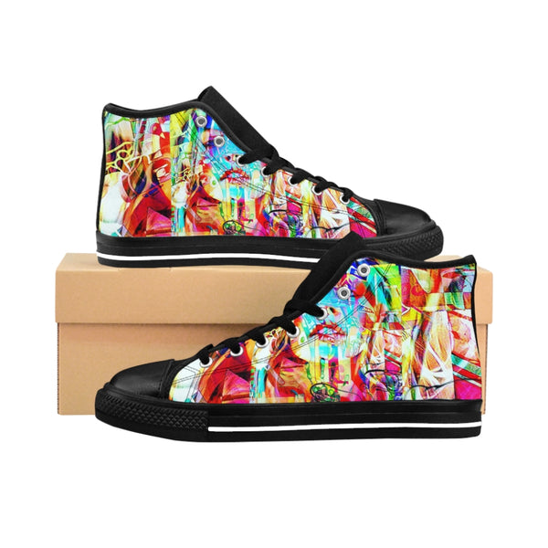 Womens High-top Sneakers Blonde Bombshell-All Over Print, Shoes, Women's Clothing-Etsy-TrumpVaderStore-TheWorlddiscountstore