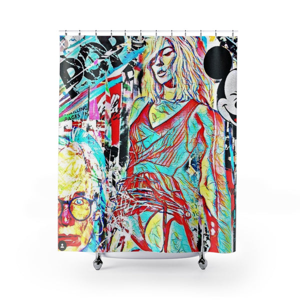 Shower Curtains Warhol Girls-All Over Print, Bathroom, Home & Living-Etsy-TrumpVaderStore-TheWorlddiscountstore
