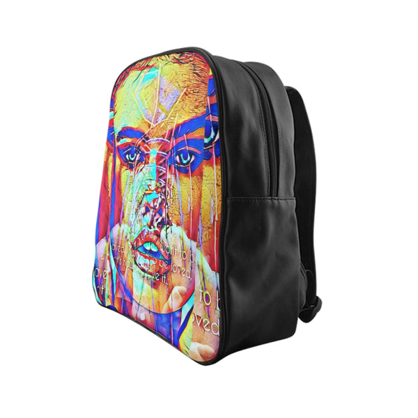 Adriana Supermodel Lima PU leather School Backpack-Accessories, All Over Print, Backpacks, Bags-Etsy-TrumpVaderStore-TheWorlddiscountstore