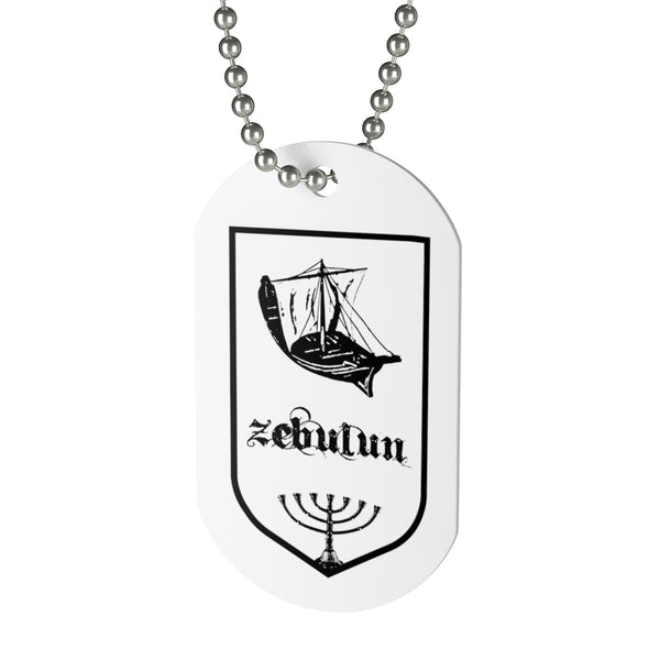 Zabulun, Tribes of Israel, Beaded Aluminum Tag with Chain-Accessories, Home & Living, Jewelry, Pets, Silver-Etsy-TrumpVaderStore-TheWorlddiscountstore