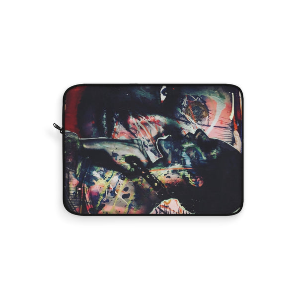 Two Faces Black Graffiti Laptop Sleeve
