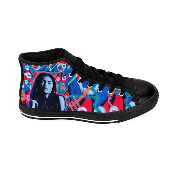 Womens High-top Sneakers Blue Model Girl-All Over Print, Shoes, Women's Clothing-Etsy-TrumpVaderStore-TheWorlddiscountstore