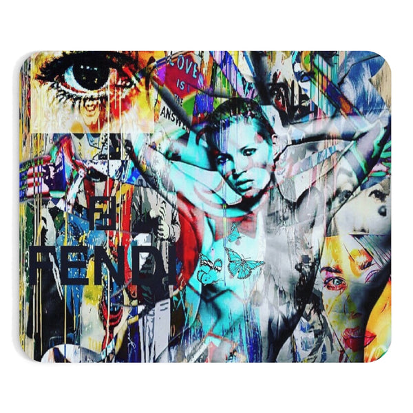 Kate Moss Fend IModel Mousepad-Home Decor-worlddiscountstore