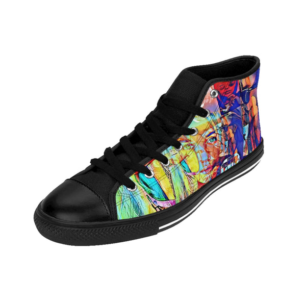 Womens High-top Sneakers Pretty Girl-All Over Print, Shoes, Women's Clothing-Etsy-TrumpVaderStore-TheWorlddiscountstore