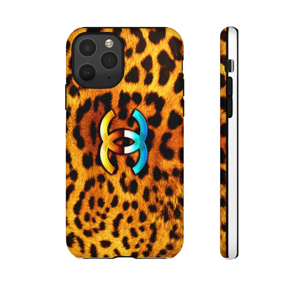 Leopard Print Fashion Tough Phone Case