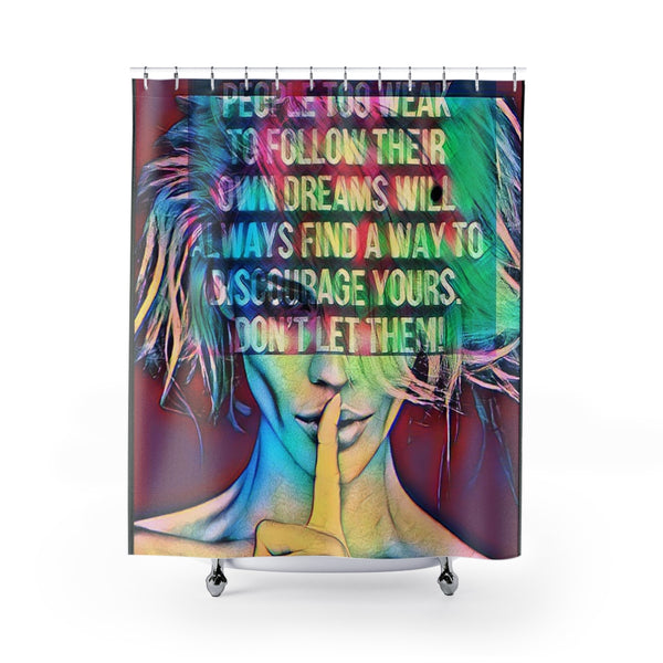 Shower Curtain Follow Your Dreams-All Over Print, Bathroom, Home & Living-Etsy-TrumpVaderStore-TheWorlddiscountstore