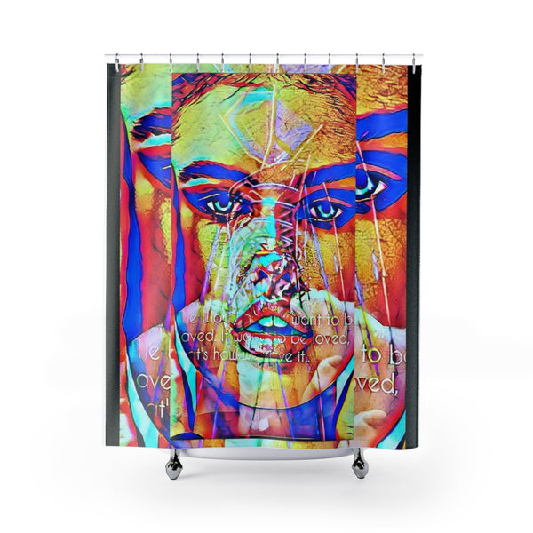 Shower Curtain Brunette Bombshell-All Over Print, Bathroom, Home & Living-Etsy-TrumpVaderStore-TheWorlddiscountstore