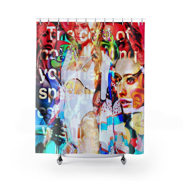 Shower Curtain Gossip Girls-All Over Print, Bathroom, Home & Living-Etsy-TrumpVaderStore-TheWorlddiscountstore