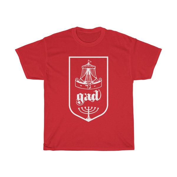 Tribes of Israel Gad (White)-T-Shirt-Made in USA-Free Fast Shipping - at TheWorldDiscountStore.com