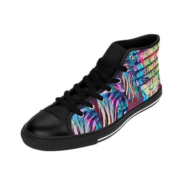 Womens High-top Sneakers Follow your Dreams-All Over Print, Shoes, Women's Clothing-Etsy-TrumpVaderStore-TheWorlddiscountstore