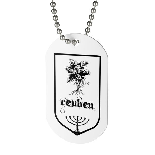 Reuben, Tribes of Israel, Beaded Aluminum Tag with Chain-Accessories, Home & Living, Jewelry, Pets, Silver-Etsy-TrumpVaderStore-TheWorlddiscountstore