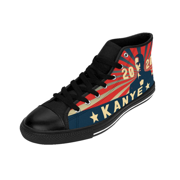 Vote for Kanye2 Men's High-top Sneakers-worlddiscountstore