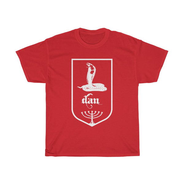 Tribes of Israel Dan (White)-T-Shirt-Made in USA-Free Fast Shipping - at TheWorldDiscountStore.com