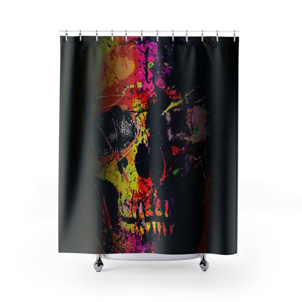Shower Curtain Bathroom Skull Graffiti-All Over Print, Bathroom, Home & Living-Etsy-TrumpVaderStore-TheWorlddiscountstore