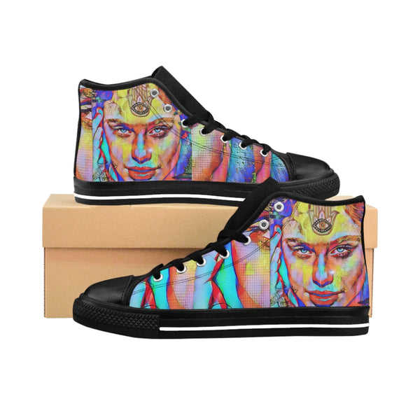 Womens High-top Sneakers Zen Girl1-All Over Print, Shoes, Women's Clothing-Etsy-TrumpVaderStore-TheWorlddiscountstore