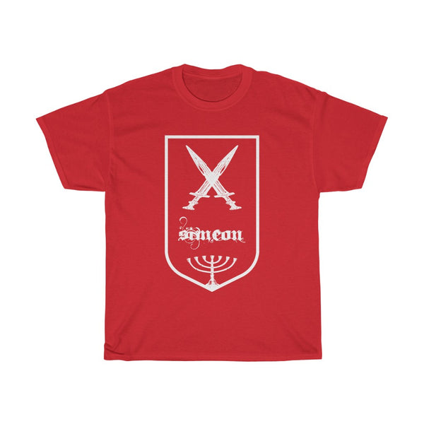 Tribes of Israel Simeon (White)-T-Shirt-Made in USA-Free Fast Shipping - at TheWorldDiscountStore.com