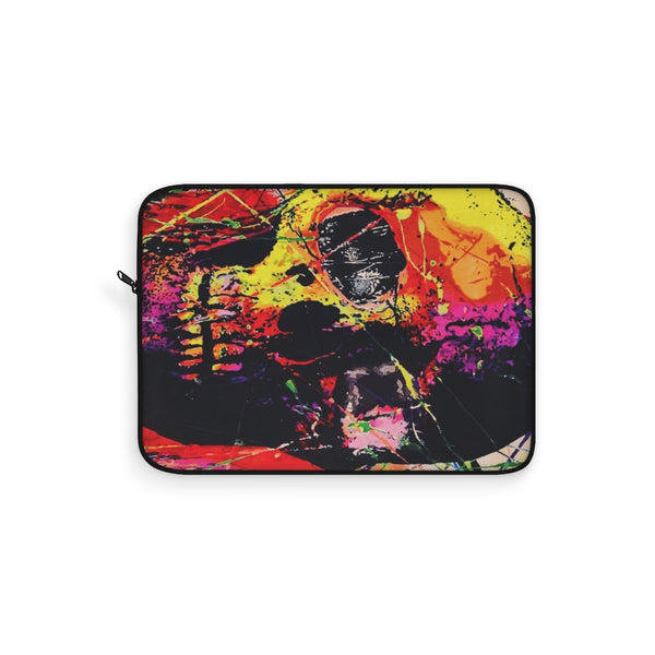 Skull Graffiti Red Art Laptop Sleeve