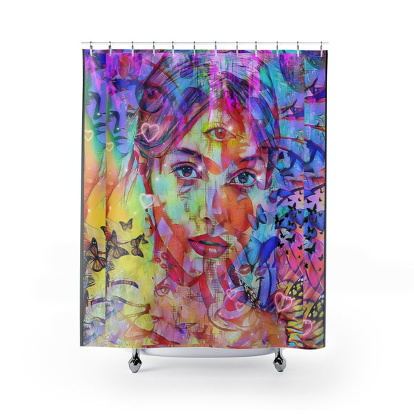Shower Curtain Zen Girl 2-All Over Print, Bathroom, Home & Living-Etsy-TrumpVaderStore-TheWorlddiscountstore