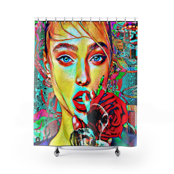 Shower Curtain Russian Ex Girlfriend-All Over Print, Bathroom, Home & Living-Etsy-TrumpVaderStore-TheWorlddiscountstore