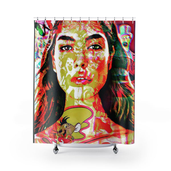 Shower Curtain Mexican Goddess-All Over Print, Bathroom, Home & Living-Etsy-TrumpVaderStore-TheWorlddiscountstore