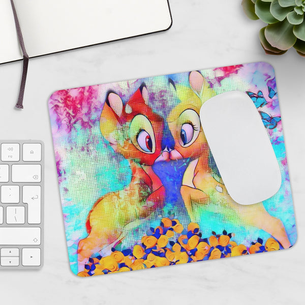 Bambi Kiss Cute Art Girls Mousepad