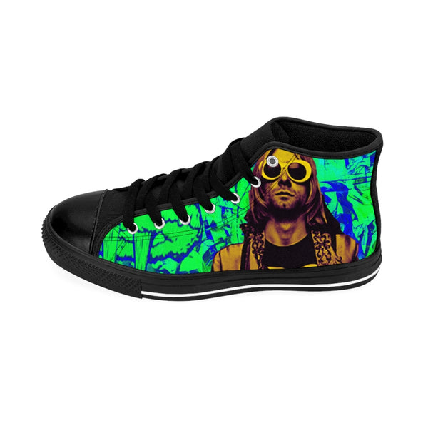 Men's High-top Sneakers Nirvana Kurt Cobain Green-All Over Print, Men's Clothing, Shoes-Etsy-TrumpVaderStore-TheWorlddiscountstore