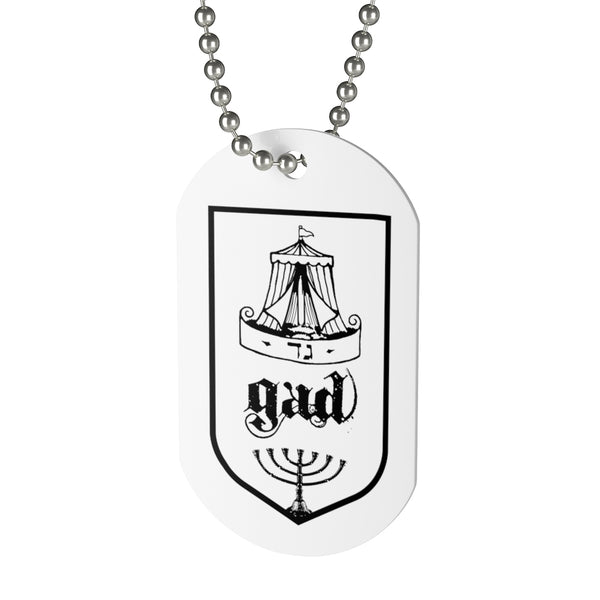 Gad, Tribes of Israel, Beaded Aluminum Tag with Chain-Accessories, Home & Living, Jewelry, Pets, Silver-Etsy-TrumpVaderStore-TheWorlddiscountstore