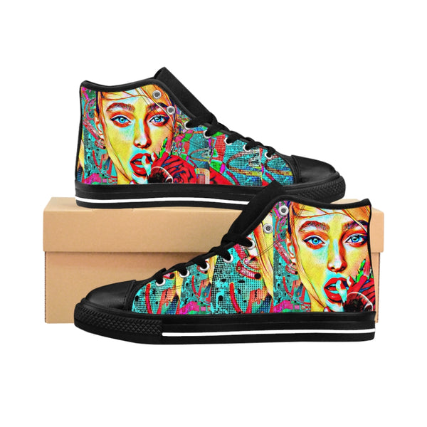 Womens High-top Sneakers Russian ExGirl-All Over Print, Shoes, Women's Clothing-Etsy-TrumpVaderStore-TheWorlddiscountstore