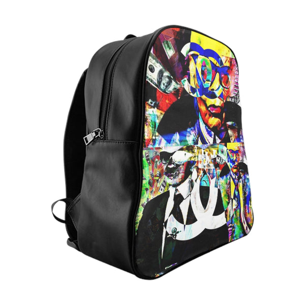 Inspired by C h a n e l Graffiti School Backpack-Accessories, All Over Print, Backpacks, Bags-Etsy-TrumpVaderStore-TheWorlddiscountstore