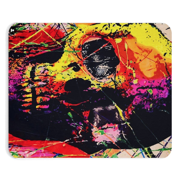 Skull Graffiti Art Red Mousepad
