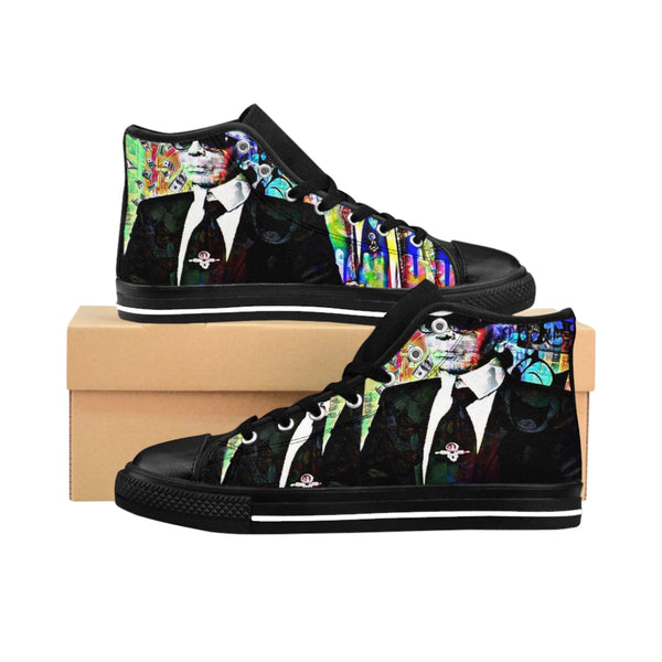 Mens High-top Sneakers Karl Lagerfeld Chanel-All Over Print, Men's Clothing, Shoes-Etsy-TrumpVaderStore-TheWorlddiscountstore