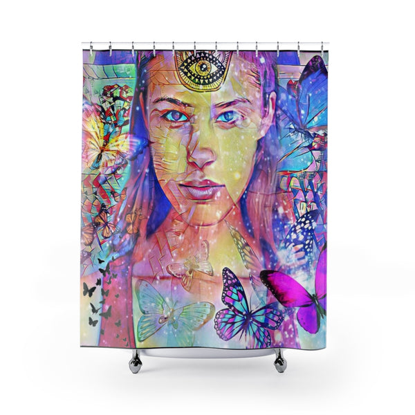 Shower Curtain Zen Girl 1-All Over Print, Bathroom, Home & Living-Etsy-TrumpVaderStore-TheWorlddiscountstore